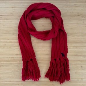 Abercrombie & Fitch Acrylic Red Scarf